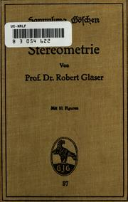 Cover of: Stereometrie