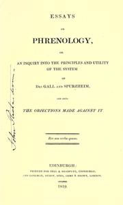 Cover of: Essays on phrenology