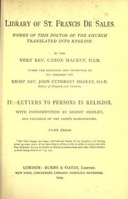 Cover of: Letters to persons in religion