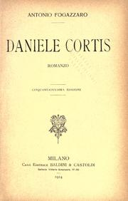Cover of: Daniele Cortis