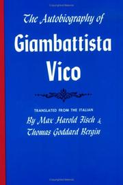 Cover of: The autobiography of Giambattista Vico