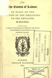 Cover of: The claims of labour