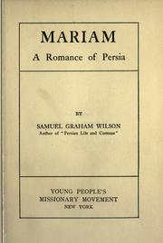 Cover of: Mariam: A Romance of Persia