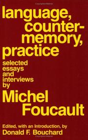 Cover of: Language, counter-memory, practice
