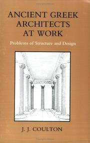 Cover of: Ancient Greek architects at work