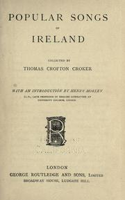Cover of: Popular songs of Ireland