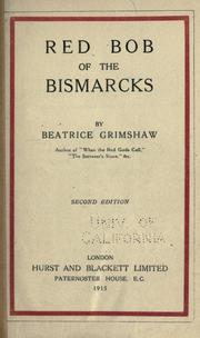 Cover of: Red Bob of the Bismarcks