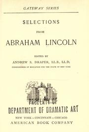 Cover of: Selections from Abraham Lincoln