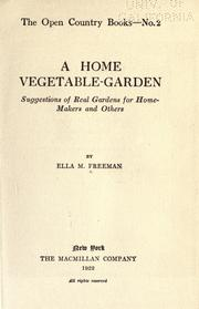 Cover of: A home vegetable-garden