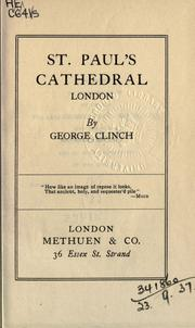 Cover of: St. Paul's Cathedral, London