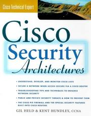 Cover of: Cisco Security Architectures | Gilbert Held