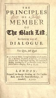 Cover of: The Principles of a member of the black list |