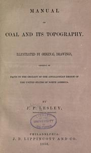 Manual of coal and its topography by J. P. Lesley