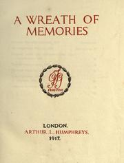 Cover of: A wreath of memories