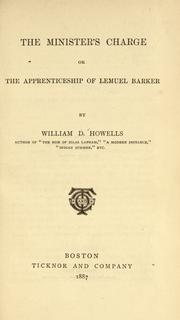 Cover of: The minister's charge, or, The apprenticeship of Lemuel Barker