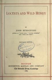 Cover of: Locusts and wild honey