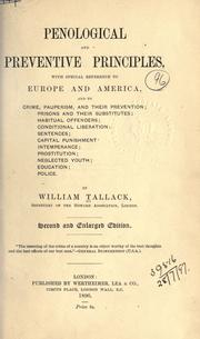 Cover of: Penological and preventive principles, with special reference to Europe and America, and to crime, pauperism, and their prevention