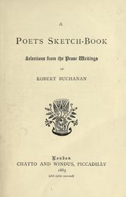 Cover of: A poet's sketch-book