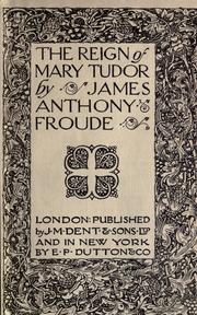 Cover of: The reign of Mary Tudor