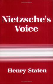 Cover of: Nietzsche's voice