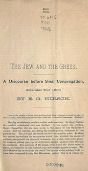 Cover of: The Jew and the Greek