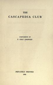Cover of: The Cascapedia Club