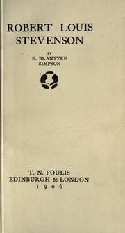 Cover of: Robert Louis Stevenson |