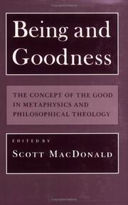 Cover of: Being and Goodness | Scott MacDonald