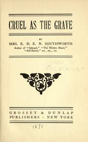 Cover of: Cruel as the grave