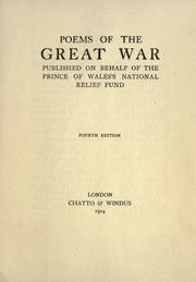 Cover of: Poems of the great war, published on behalf of the Prince of Wales's national relief fund |