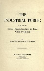Cover of: The industrial public