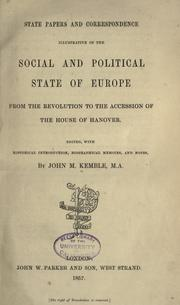 Cover of: State papers and correspondence