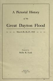 A pictorial history of the great Dayton flood, March 25, 26, 27, 1913 by Nellis Rebok Funk