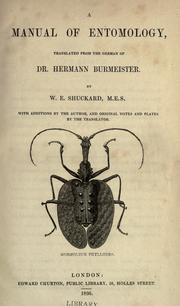 Cover of: A Manual of entomology