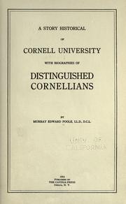 Cover of: A story historical of Cornell University | Murray Edward Poole