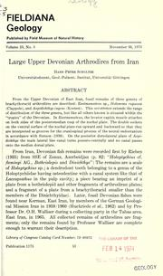 Large Upper Devonian arthrodires from Iran by Hans-Peter Schultze