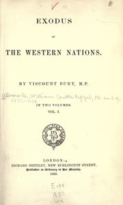 Exodus of the western nations by William Coutts Keppel
