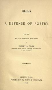 Cover of: A defense of poetry
