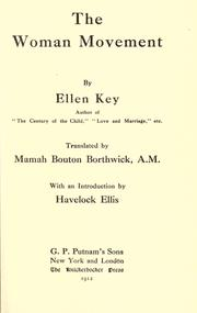 Cover of: The woman movement | Ellen Key