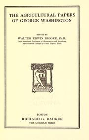 Cover of: The agricultural papers of George Washington