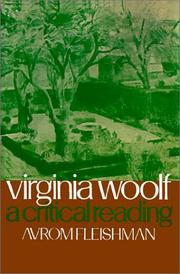 Cover of: Virginia Woolf | Avrom Fleishman