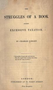 Cover of: The struggles of a book against excessive taxation