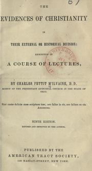 Cover of: The evidences of Christianity, in their external division