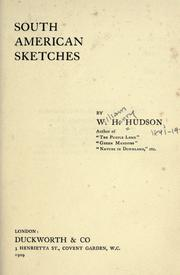 Cover of: South American sketches