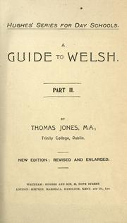 Cover of: A guide to Welsh | Thomas Jones
