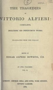 Plays by Vittorio Alfieri