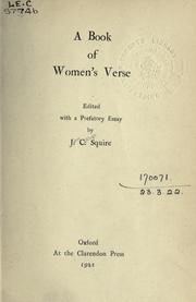 Cover of: A book of women's verse