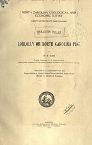 Loblolly, or North Carolina pine by William Willard Ashe