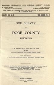 Cover of: Soil survey of Door County, Wisconsin | A. R. Whitson