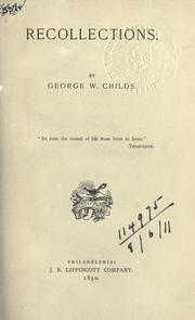 Recollections by George William Childs